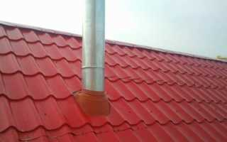 Проход трубы через металлочерепицу, монтаж вокруг дымохода: выполняем примыкание