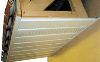 Подшивка крыши сайдингом: отделка карниза
