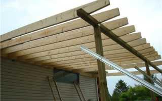 Как построить навес к дому: варианты из дерева и поликарбоната