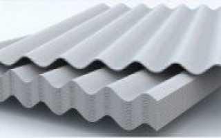 Шифер: размеры листа, ГОСТ, полезная площадь, 7 волнового, прямого материала