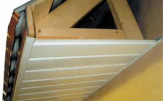 Софиты для крыши: размеры, обшивка