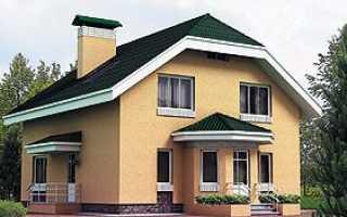 Двускатная мансардная крыша из профлиста