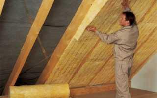 Утепление крыши изнутри минеральной ватой: инструкция по монтажу своими руками, видео и фото