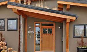 Как сделать крышу над крыльцом: красивый навес над входом своими руками, кровельный козырек