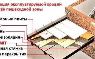 Эксплуатируемая кровля: устройство пирога, узлы, состав, конструкция, проект дома с неэксплуатируемой крышей