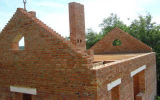 Кладка фронтона из кирпича двухскатной крыши, как укрепить
