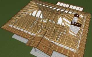 Стропильная система четырехскатной крыши: устройство, конструкция, схема, монтаж