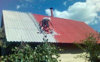 Чем покрасить шифер на крыше дома своими руками — фото и видео