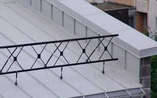 Узел парапета: парапетный фартук, схема покрытия крыши дома