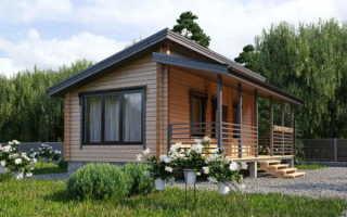 Одноэтажный каркасный дом с односкатной крышей — устройство и особенности монтажа (фото, видео)