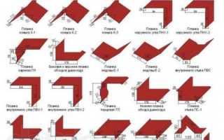 Ветровая планка для профнастила — размеры и крепление (фото, видео)