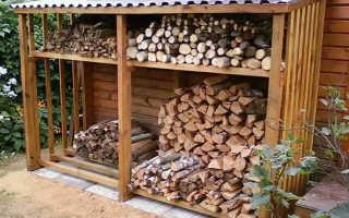 Как построить навес для дров: как сделать своими руками навес для хранения дров, чертеж