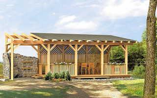 Строительство беседки с односкатной крышей — чертежи и расчет (фото, видео)