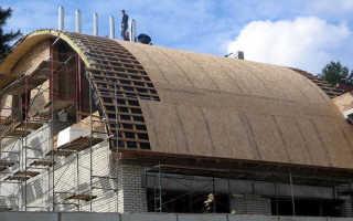 Арочная крыша: конструкции кровли, материалы, как сделать правильно