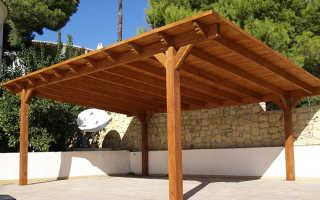 Строительство навесов: стройка односкатной крыши, как сделать плоский простой поднавес, возведение, как построить