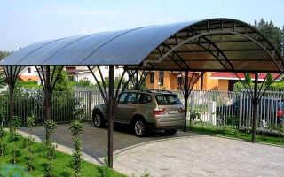 Навес для автомобиля из поликарбоната: высота для машины, размер на две, правила монтажа пошагово