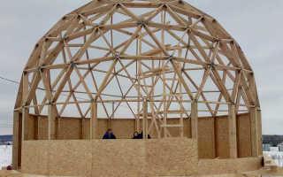Круглая крыша дома: купольная, коническая, как сделать на здании, покрыть купол, построить стропильную систему