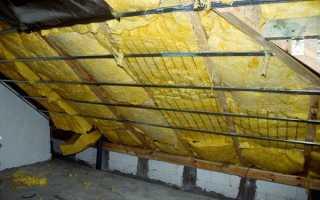 Утепление крыши изнутри: теплоизоляция бетонной старой кровли деревянного дома