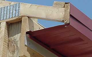 Подшивка карниза профнастилом: как обшить карниз крыши металлопрофилем, профлистом