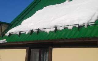 Устройство и установка снегозадержателя на крышу — фото и видео обзор