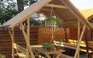 Беседка с двухскатной крышей: как сделать двускатную крышу своими руками, чертежи, проекты