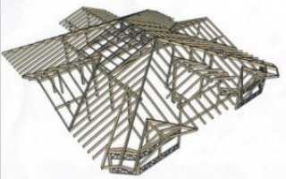 Стропильные конструкции деревянные: изготовление и ремонт наслонных стропил