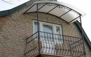 Навес над балконом: особенности и методы установки