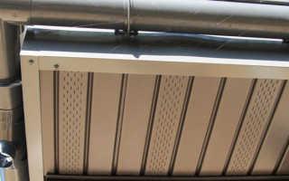 Металлические софиты для подшивки кровли, монтаж, какие лучше из металла, размеры стального софита с перфорацией