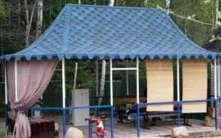 Чем покрыть крышу беседки недорого, материалы для покрытия (фото, видео)