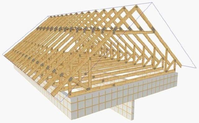 как сделать двухскатную крышу гаража своими руками