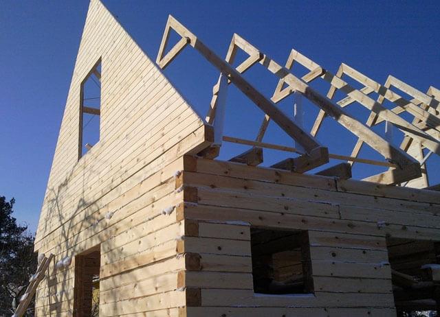 как посчитать площадь фронтона двухскатной крыши