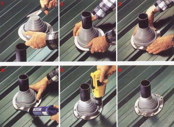 Схем монтажа резинового уплотнителя