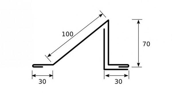 Схема для изготовления уголкового снегобарьера своими руками