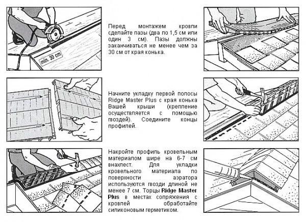 схема установки конькового аэратора
