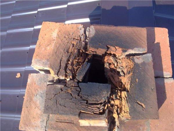 использования плохо обожженного кирпича для строительства дымохода