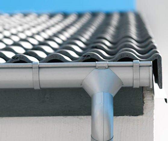 Водосток односкатной крыши