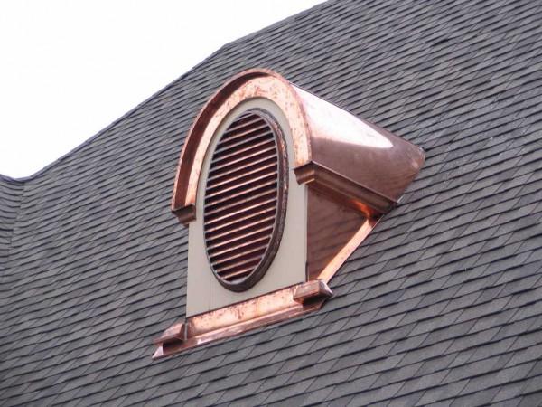 Слуховое окно для вентиляции чердачного помещения