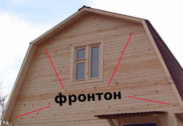 Фронтон мансардной крыши