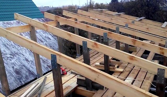 как построить гараж с односкатной крышей