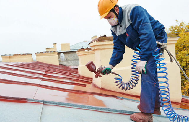 чем покрасить железную крышу
