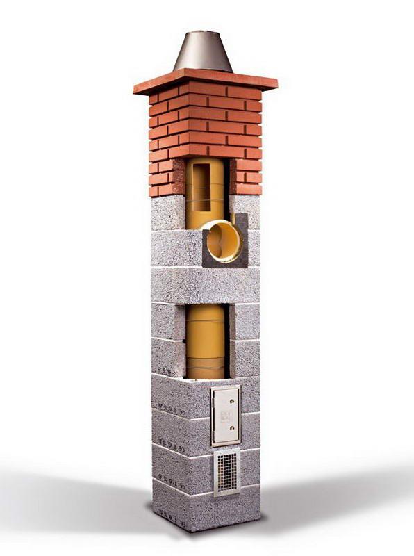Собранный дымоход из керамики