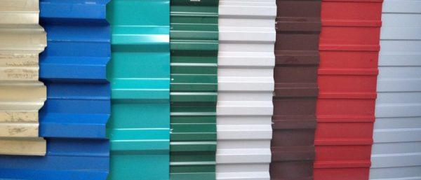 Популярные цвета профнастила