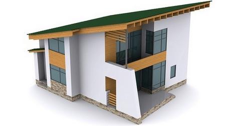 Проект крыши из одного ската для жилого дома