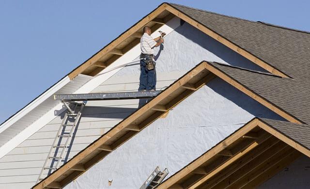 как рассчитать площадь фронтона двухскатной крыши