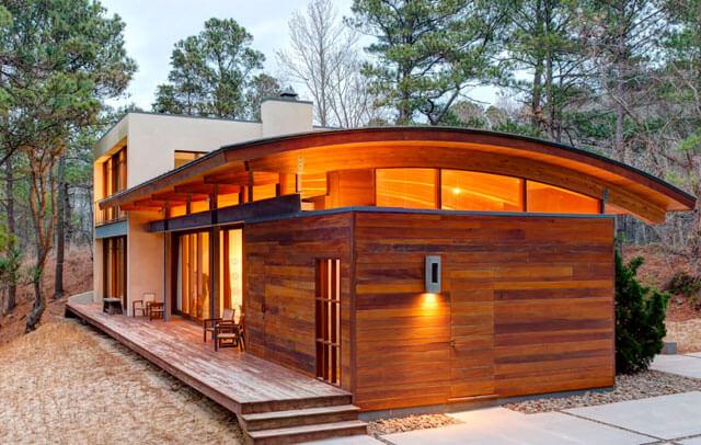 арочная крыша из дерева