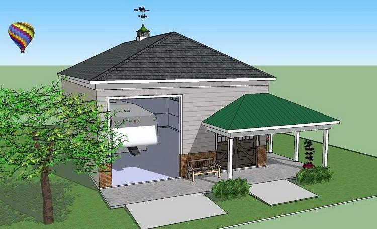 Проект дома с трехскатной крышей