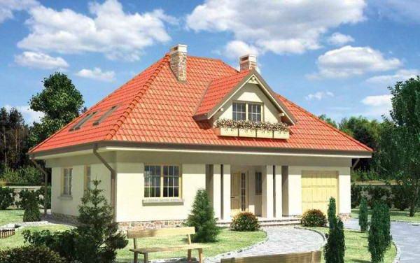 Вальмовая крыша жилого дома