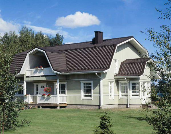 Ломанная мансардная крыша