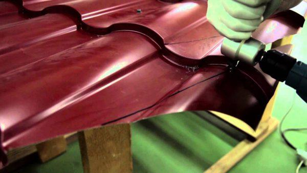 Высечные ножницы - насадка для электрической дрели