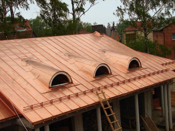 Фальцевая медная крыша